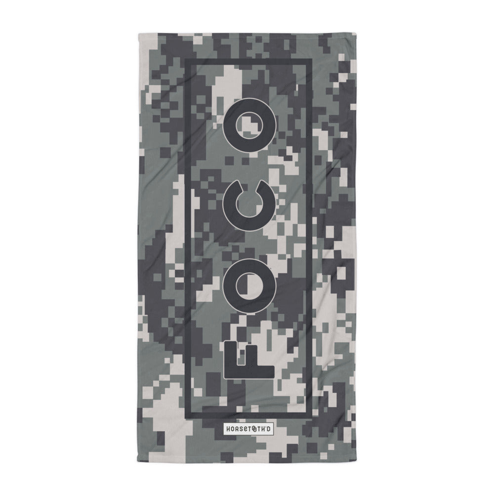 FOCO Camo Beach Towel