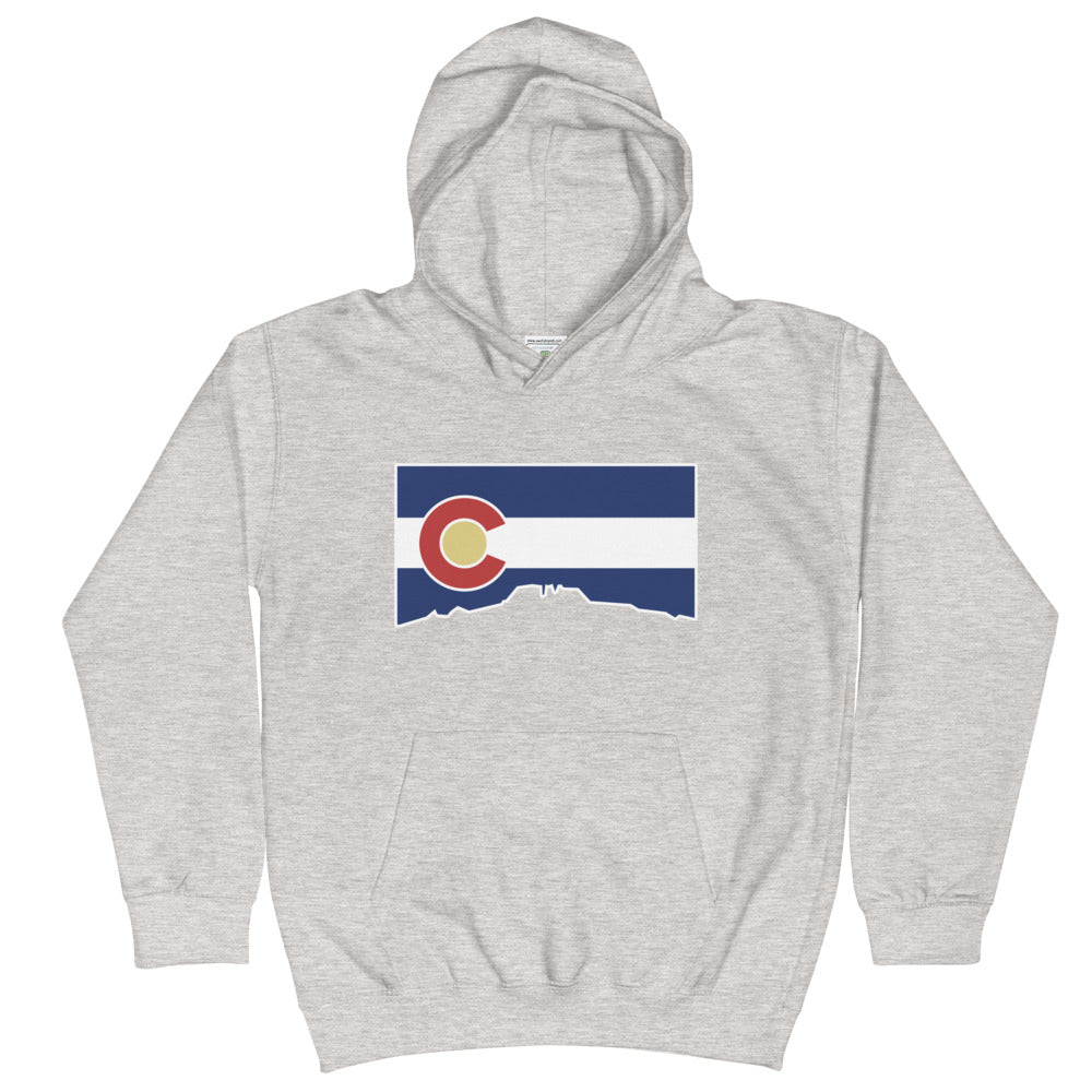 Colorado Flag Cutout Youth Hoodie