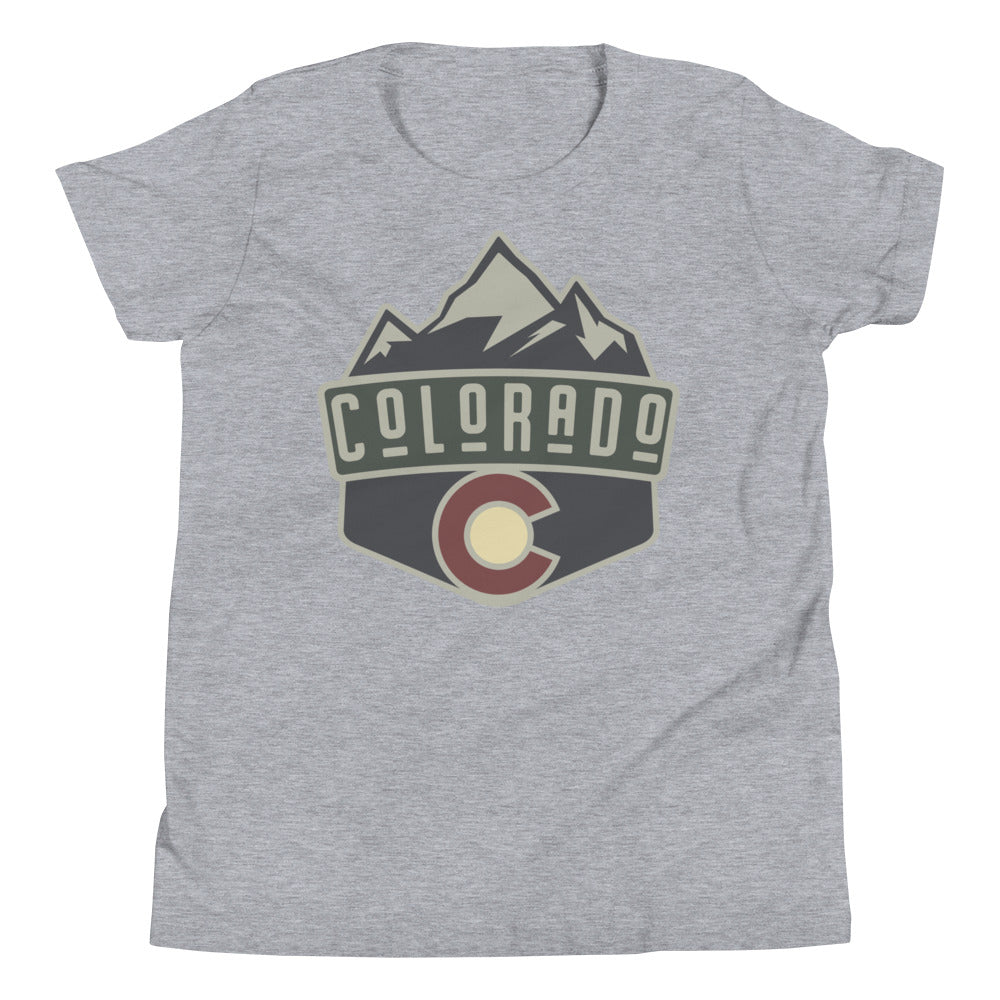 Classic Colorado Badge Youth Tee Shirt