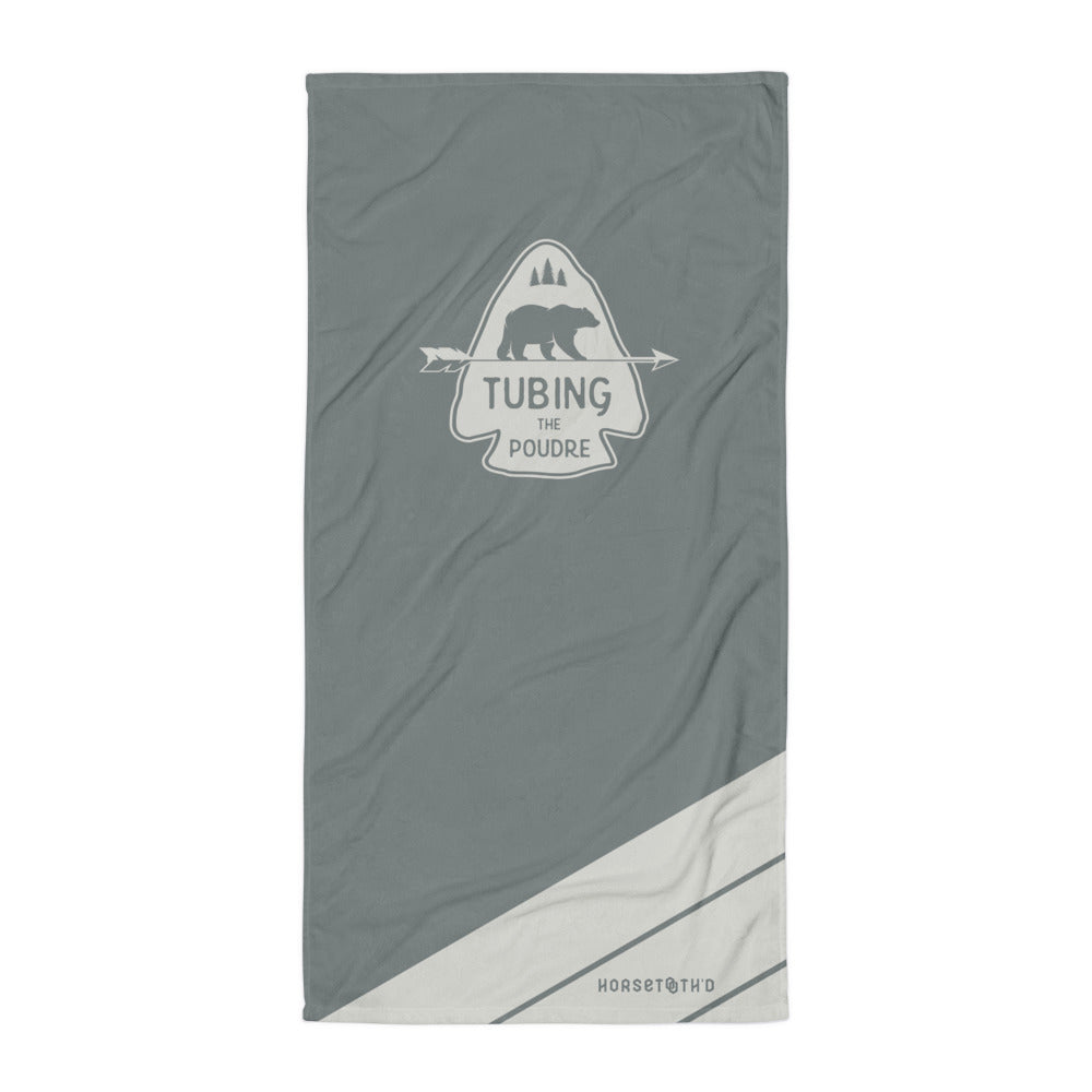 Tubing the Poudre Beach Towel