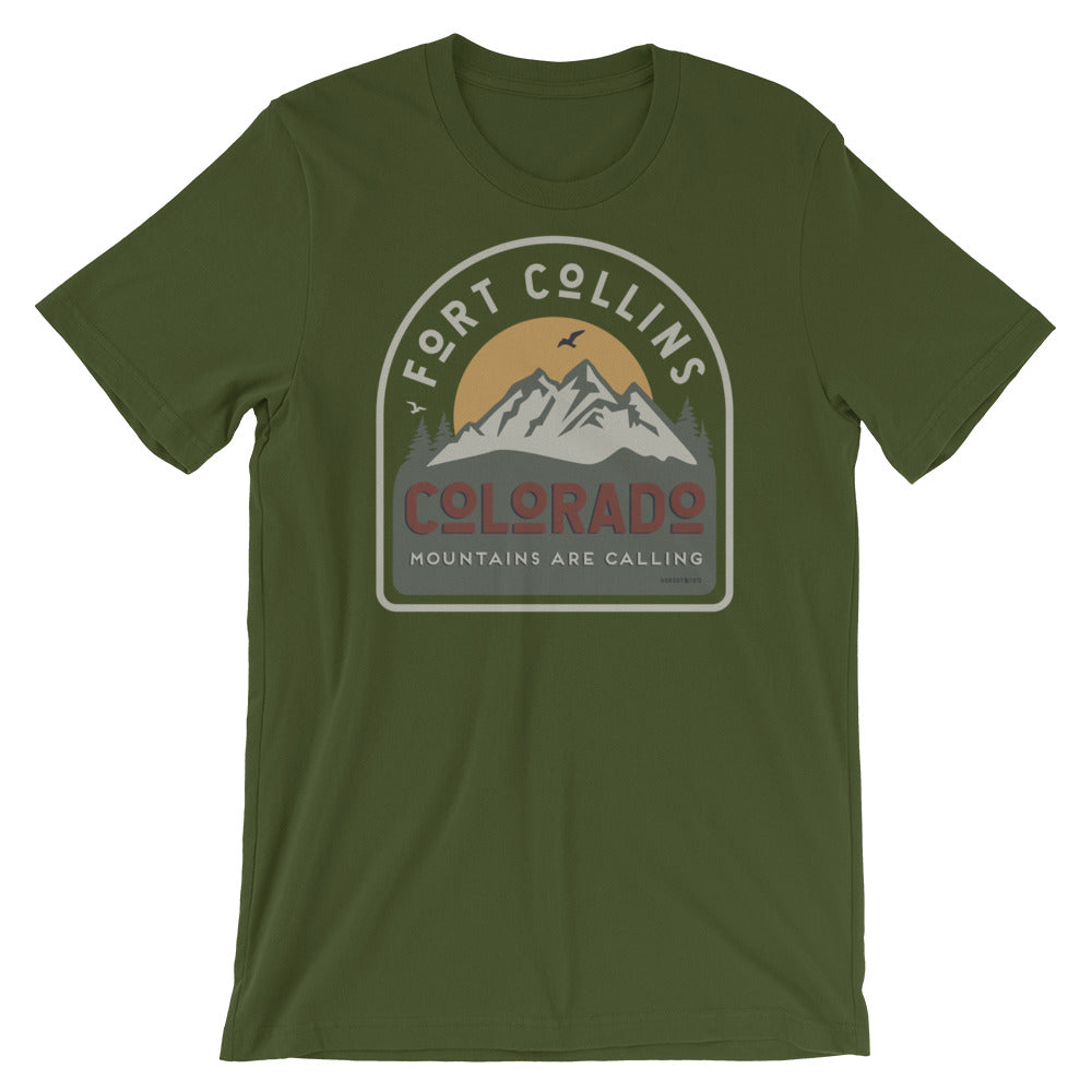 Fort Collins Mountains are Calling Tee Shirt