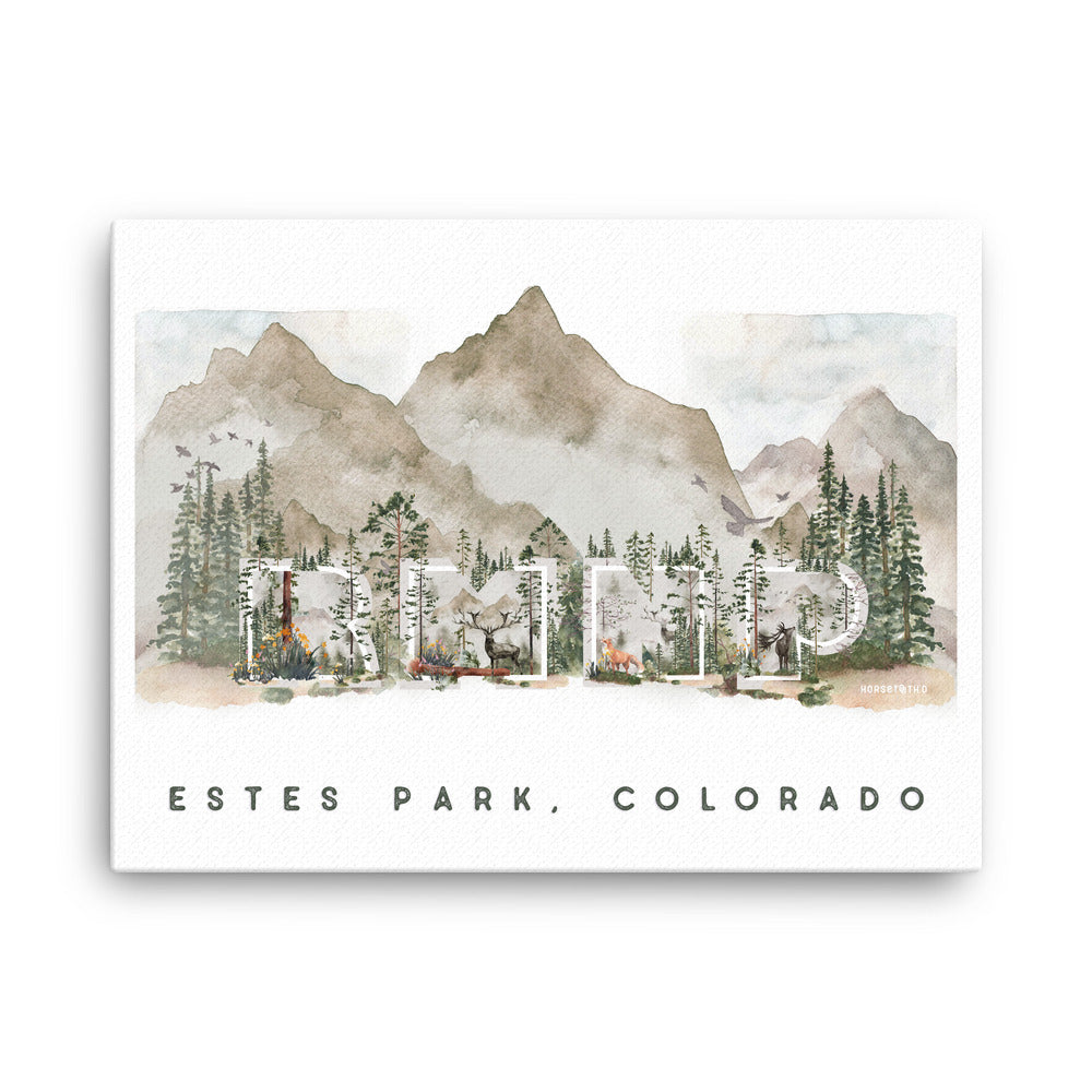 RMNP Estes Park, Colorado Canvas Print