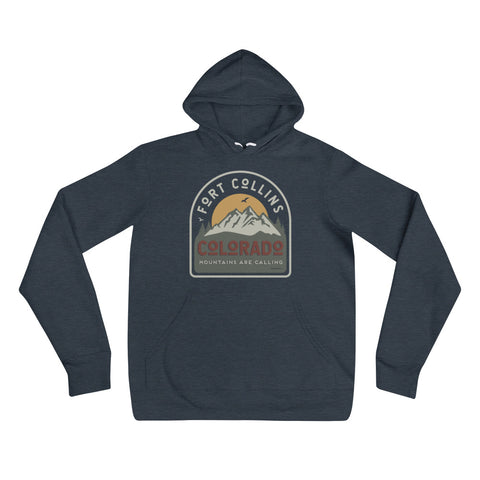 Fort Collins Mountains are Calling Unisex Hoodie