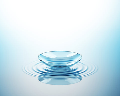 Contact lens on water
