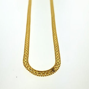 22kt Yellow Gold Singaporean Flat Chain with Length 24 inches - Queens Diamond & Jewelry