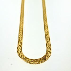 22kt Yellow Gold Singaporean Flat Chain with Length 27.5 inches - Queens Diamond & Jewelry