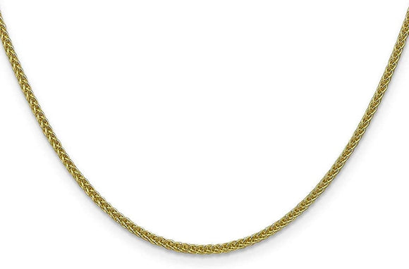 22KT Yellow Gold Wheat Link Chain