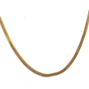 22KT Yellow Gold Unique Flat Chain - Queens Diamond & Jewelry