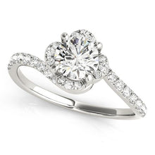 Load image into Gallery viewer, 14kt White Gold 1.33ctw Round Diamond Halo Engagement Ring Only