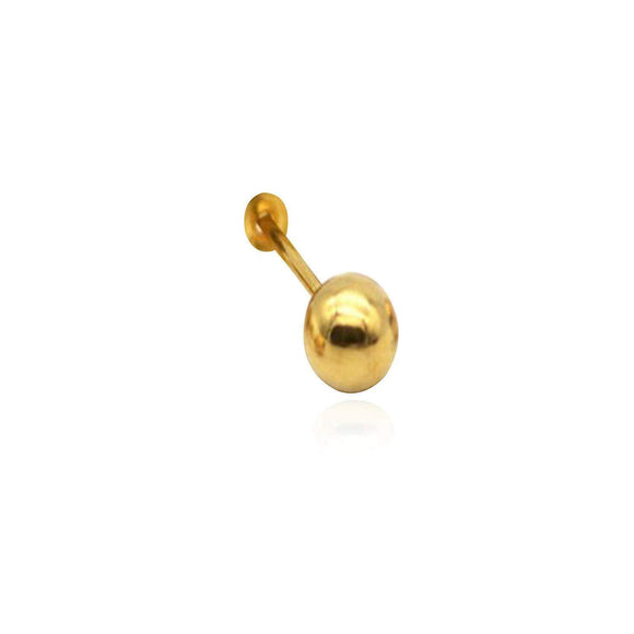 Dazzling 18kt Yellow Gold  Plain Ball Design Nosepin