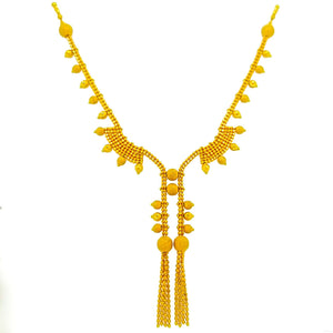 22K Yellow Gold Necklace - Queens Diamond & Jewelry