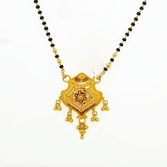 22K Yellow Gold Mangalsutra Necklace