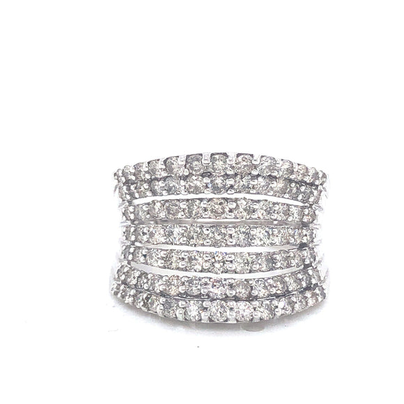 3ctw Genuine Diamond Bold Coktail Band in 10kt White Gold