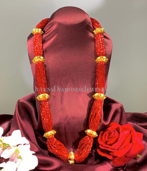 24K Handmade Traditional Necklace - Naugedi Tilhari - Queens Diamond & Jewelry