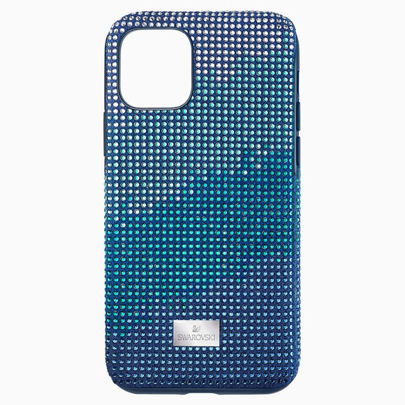 Crystalgram Smartphone Case with Bumper, iPhone® 11 Pro, Blue - QueensDiamondandJewelry