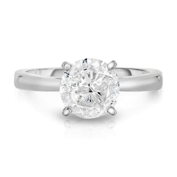 5 ctw Round Promo Solitaire Diamond Ring in 18kt Head and 14kt Shank