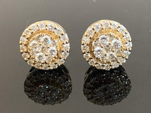 Load image into Gallery viewer, 0.75ctw Diamond Stud Earring in 10 kt Yellow Gold!