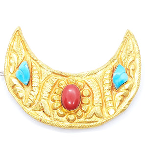 24K Handmade Hairclip (Moon Shaped Hair Clip)