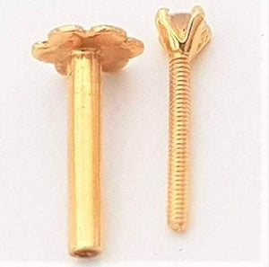 Dazzling 18Kt Yellow Gold  VS Quality Diamond Four Prong Screw Nosepin