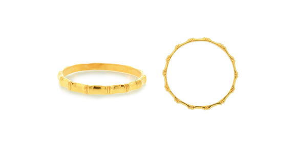 24K Handmade Closed Bamboo Design Bangle