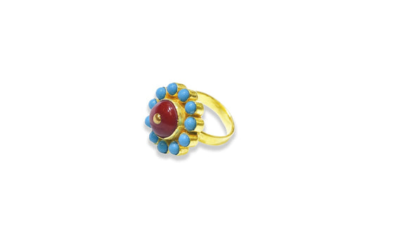 24K Gold Handmade Simple Flower Design Ring