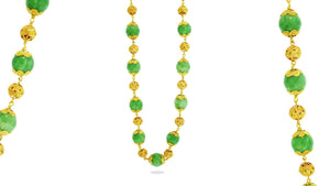 24K Handmade Jade Necklace - QueensDiamondandJewelry