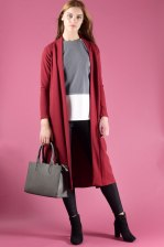Long Sleeve Longline Maxi Tailored Jacket
