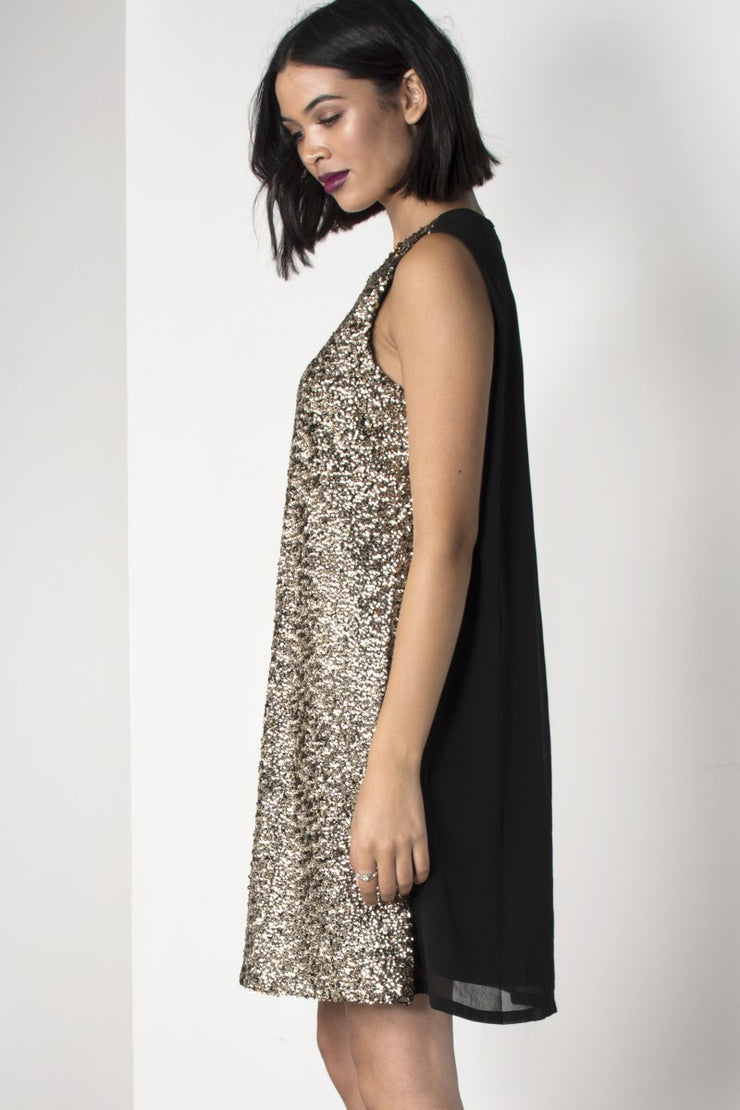 Sequin Front Shift Dress