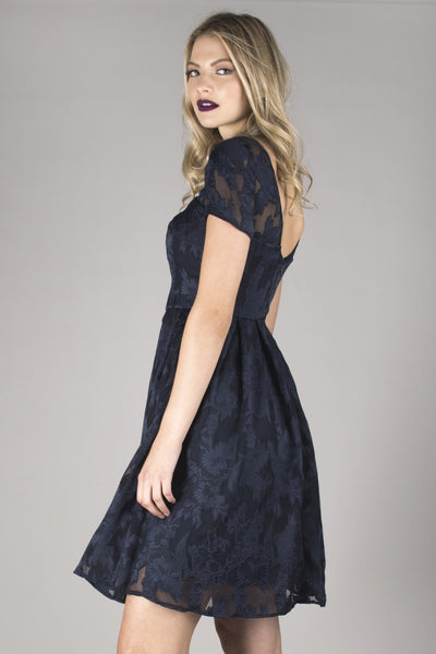 Navy Melissa Lace Dress