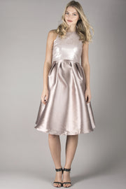 Champagne Sequin Top Midi-12