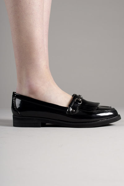 Black Patent Loafers