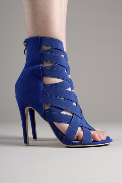Electric Blue Caged Stiletto