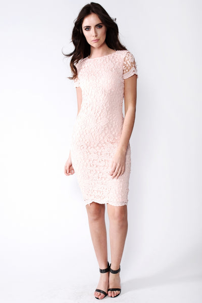 Blush Crochet Midi Dress