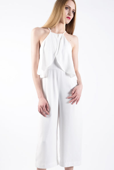 Goddess Jumpsuit in White