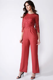 Terracotta Crochet Jumpsuit