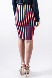 Molly Asymmetrical Stripe Skirt