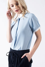 Collared Blouse in Blue