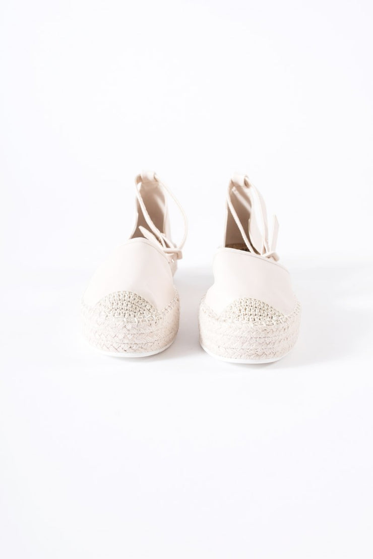 Espadrilles with Ankle Strap in Nude