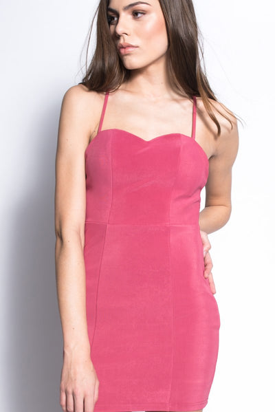 Cage Back Bodycon Blush Pink