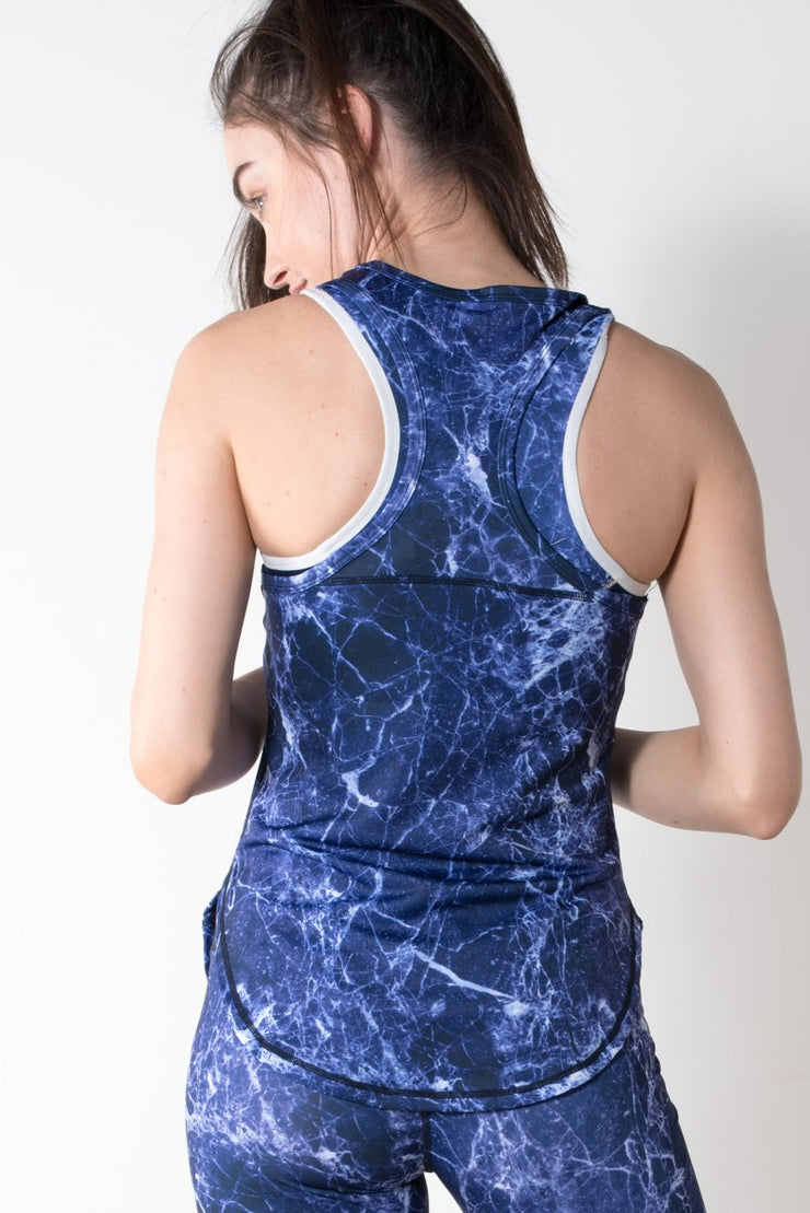 Marble Print Active Top