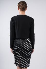 Black Ribbed Shrug