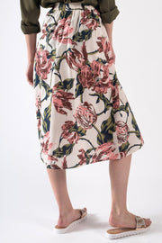 Light Summer Skirt with Rose Print