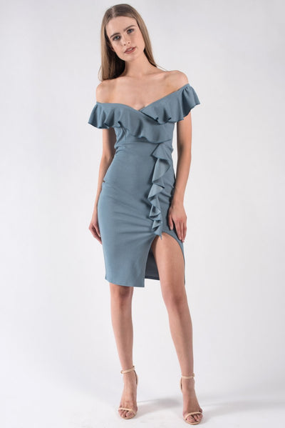 WATERFALL RUFFLE DRESS