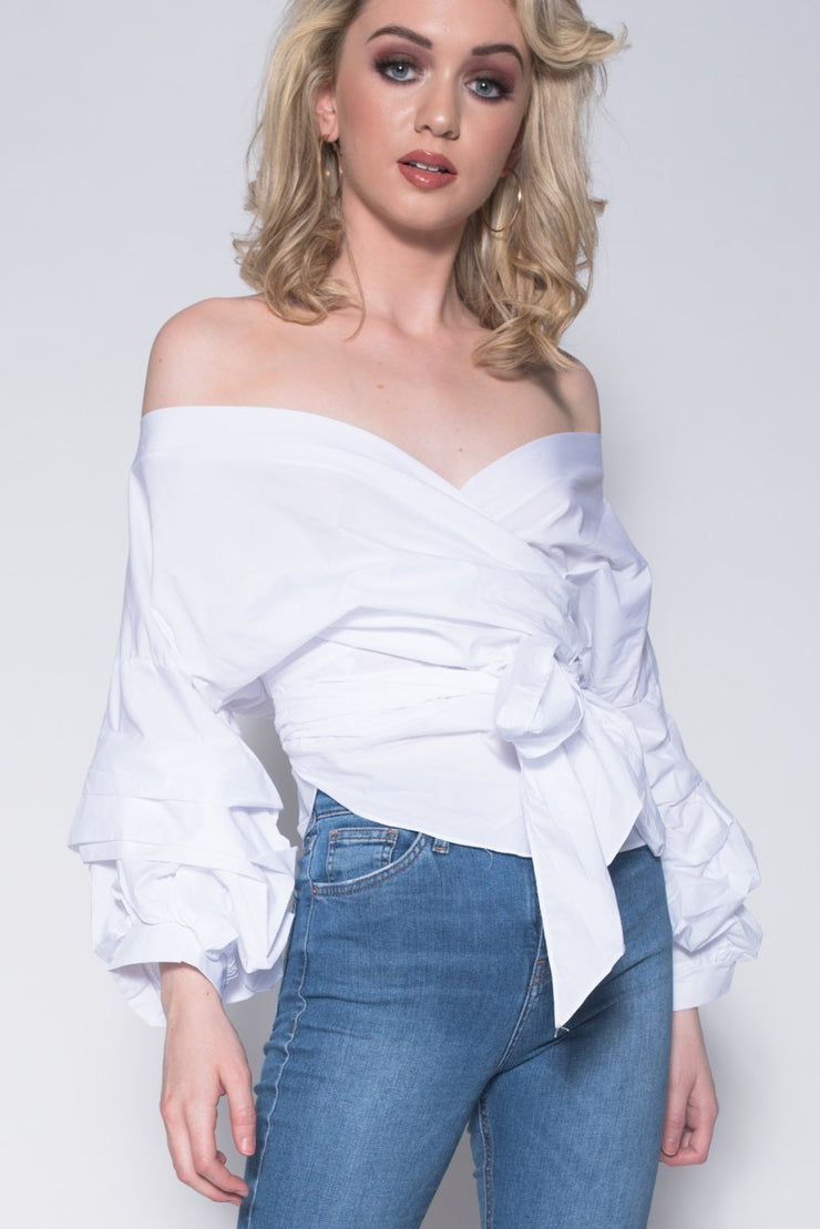 Cross Over Layered Sleeve Top