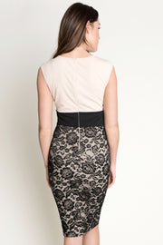 Nude Lace Bodycon