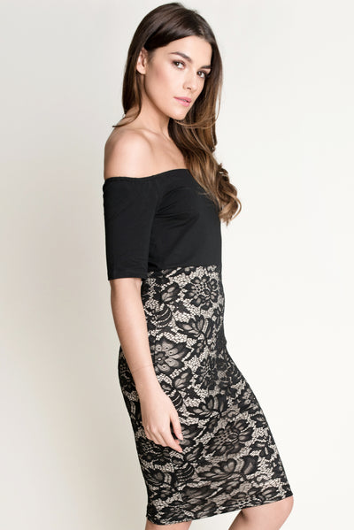Bardot Lace Bodycon