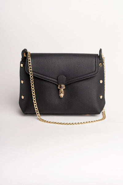 Chain Strap Black Bag