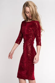 Velvet Sequin Bodycon