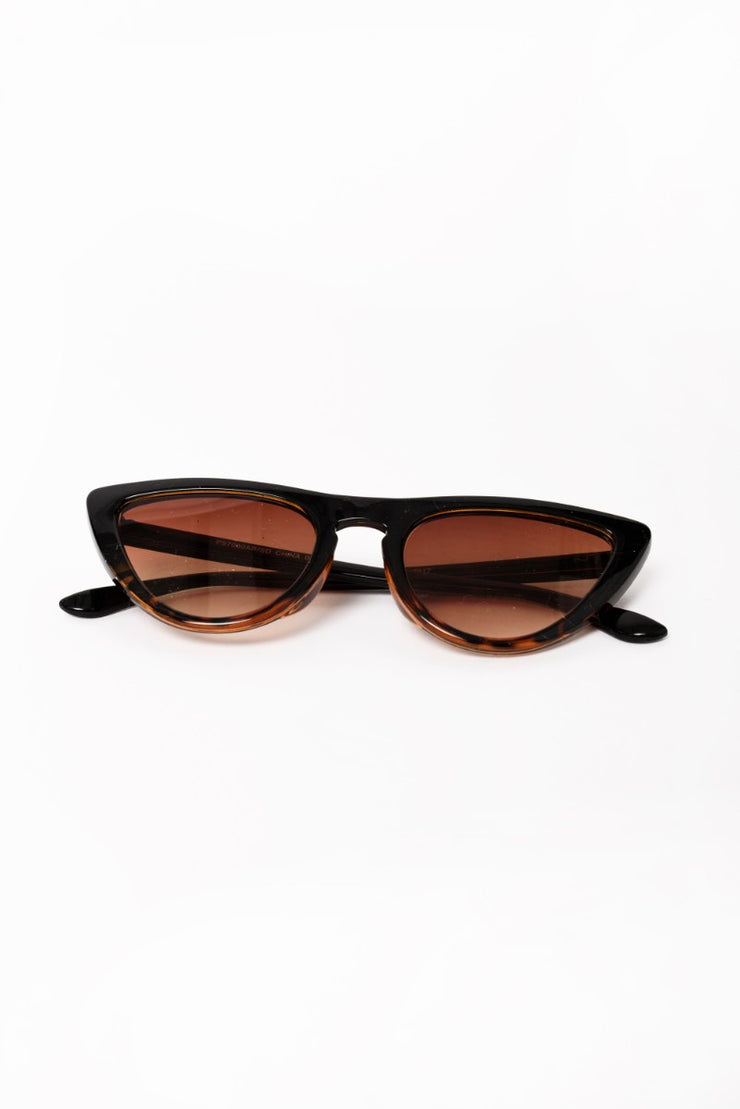 Cat Eye Glasses in Brown