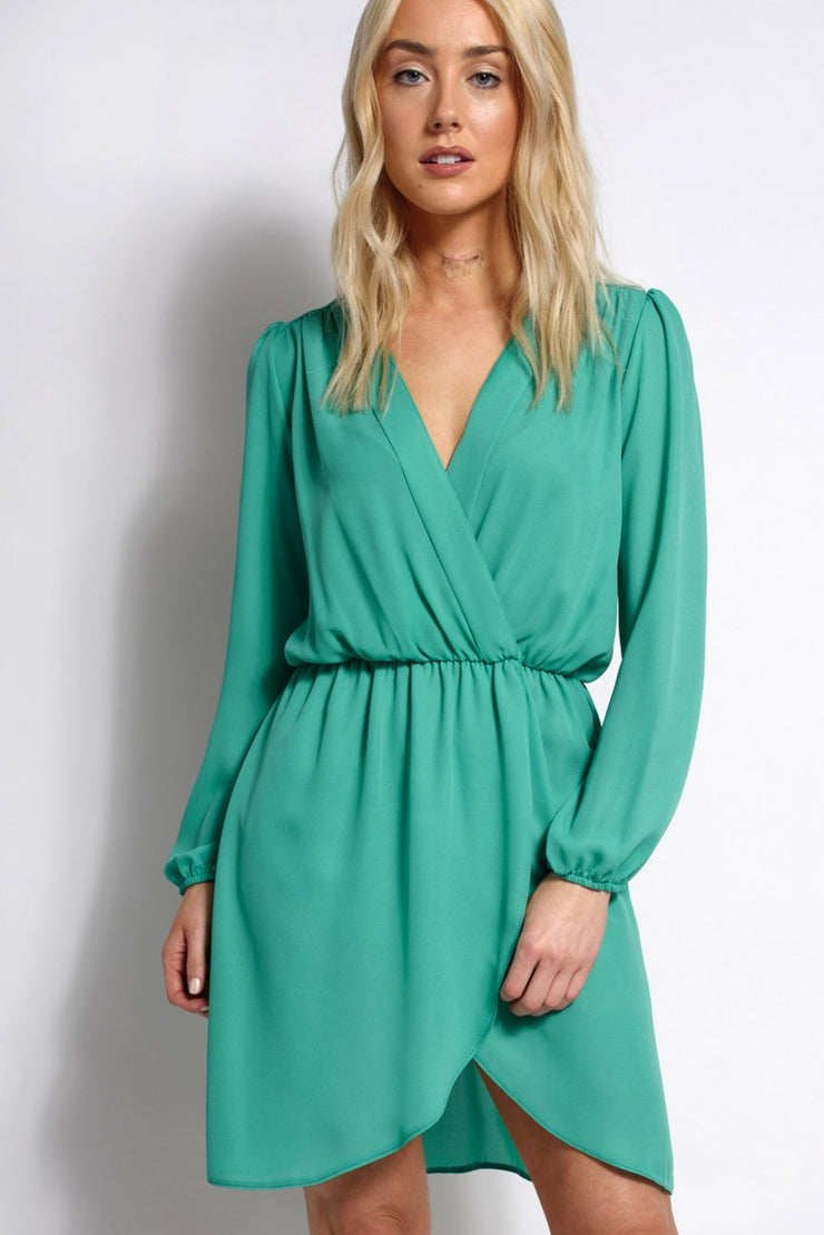Wrap Long Sleeve Dress